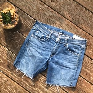 rag & bone cut off jean shorts